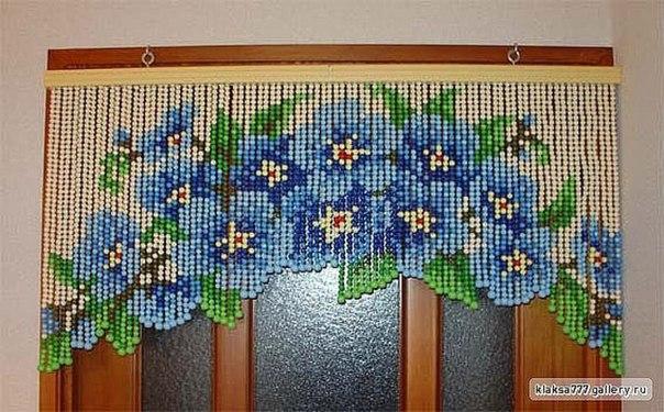 Схема шторы бусы своими руками