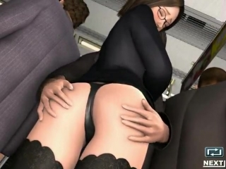 Molester Trainman | Приставание в транспорте {Порно,Хентай,Hentai,Porno,3D,Anal sex,Big breasts,Big tits,Large breasts,Blowjob}