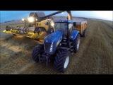 GoPro: Процесс уборки зерна, интересный монтаж.