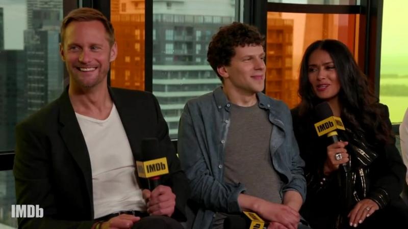 Alexander Skarsgård Salma Hayek Get Soaked in The Hummingbird Project from IMDb