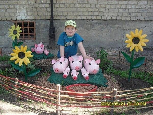 Поделки для улицы в детский сад своими руками