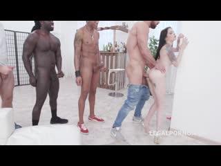8 мужиков жестко трахнули милашку [dap, anal, asslicking, rimming, gangbang,interracial, секс 8 на 1 шлюха минет анал сперма]
