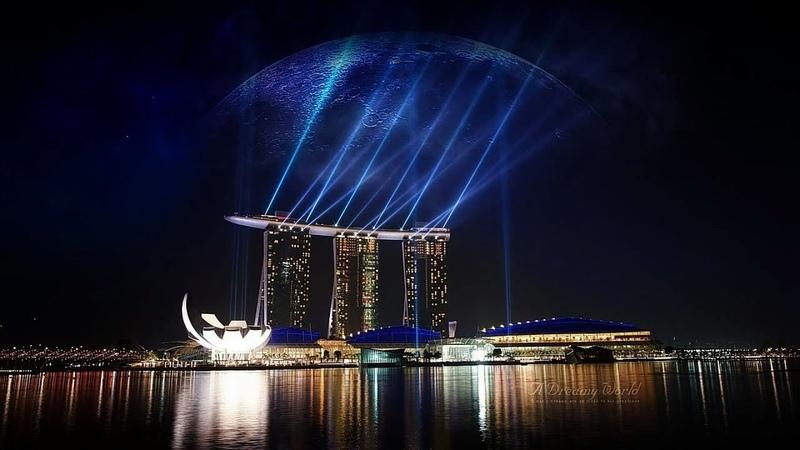 Аэропорт Чанги Сингапур инсталляция Кинетический дождь Changi Airport Singapore installation