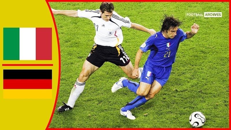 🔥 Италия - Германия 2-0 - Обзор Матча Полуфинал Чемпионата Мира 04/07/2006 HD 🔥