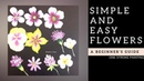 Quick and easy flowers - Acrylic painting for beginners Diy step by step