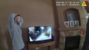 RAW: Chris Watts reacts to neighbor's surveillance footage