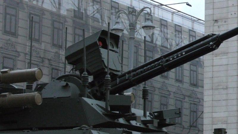 Unmanned Combat Ground Vehicles UCGV Uran-6, Uran-9. Роботы Уран. Репетиция парада 2018