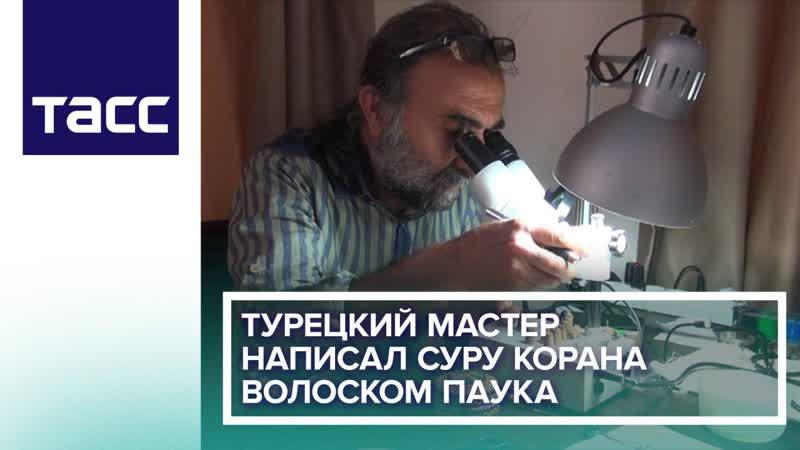 Турецкий мастер написал суру Корана волоском паука