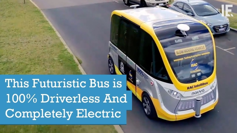 This Futuristic Bus is 100% Driverless And Completely Electric