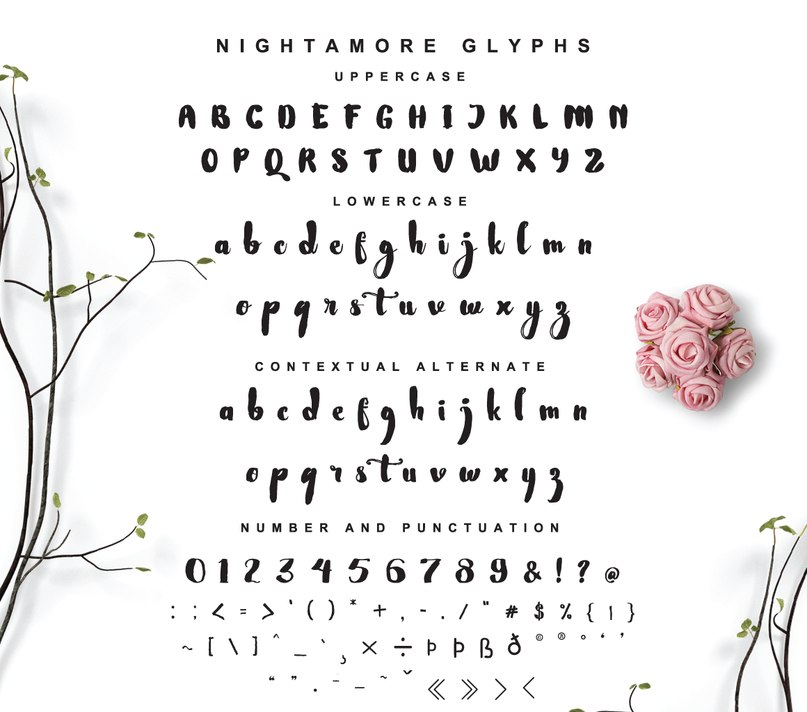 Download Nightamore Brush font (typeface)