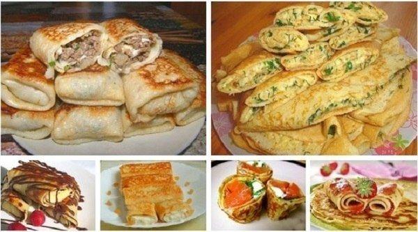 овощные начинки для блинов рецепт