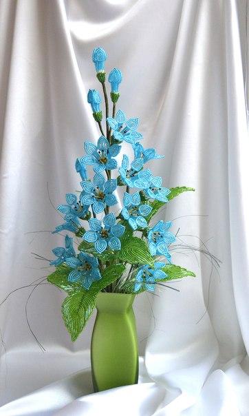 цветы из бисера мк с