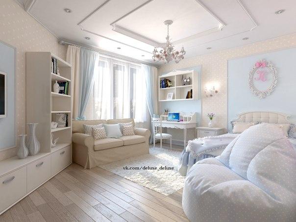 Дизайн классической комнаты для девочки подростка