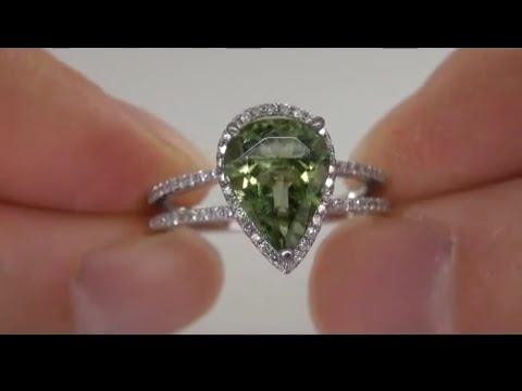 Exotic Beauty Brazilian Green Tourmaline Diamond Ring From a $300,000 Collection Must Be Sold