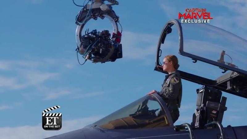 Captain Marvel ET Visits the Set With Star Brie Larson Exclusive
