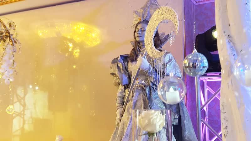 Живые статуи Снежная королева Серебряная статуя Шоу проект Самум Нижневартовск Мегион Радужный Сургут