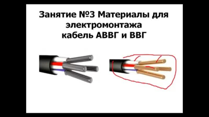 Кабель ВВГ ВВГНГ Провод ВВГ ВВГНГ Технические характеристики Цветовая маркировка