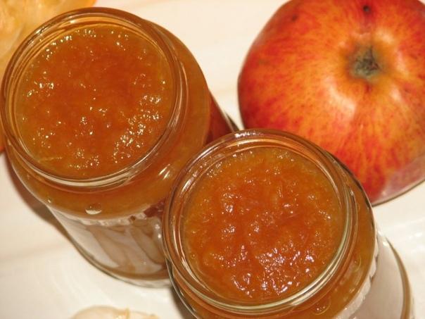 Яблочный джем с имбирем и лимоном