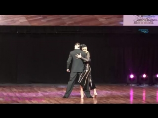 Победители ЧМ по танго россияне Дмитрий Васин и Сагдиана Хамзина в категории сценическое танго