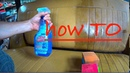 How to clean a very dirty leather interior of a car using glass cleaner