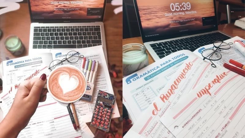 STUDY WITH ME мотивация для учебы идеальные конспекты