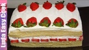 Клубничный ТОРТ со сгущенкой за 15 минут! Простой рецепт вкусного торта Simple Strawberry Cake