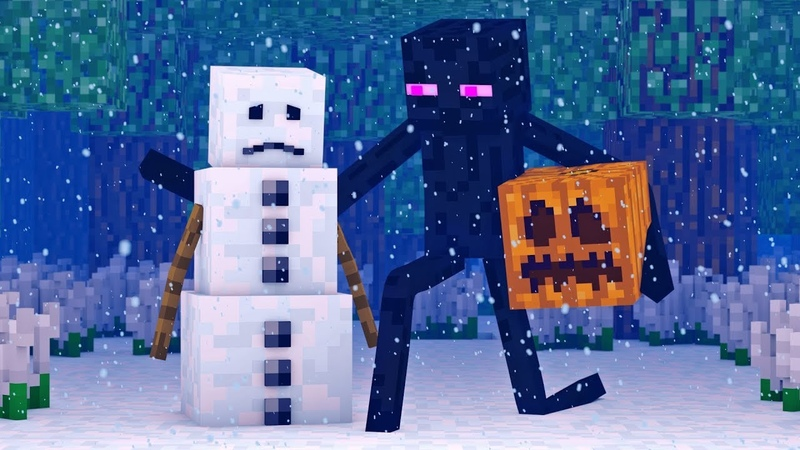 Snowman Villager Life 1 - Minecraft Animation