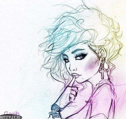 Нарисованные девушки на аватарку