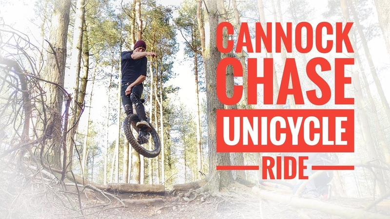 Cannock Chase on a unicycle (fails at the end)