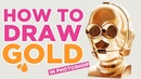 HOW TO DRAW GOLD - Drawing GOLD in Photoshop