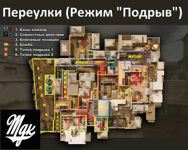 """Схема карты """"Переулки"""" и"""