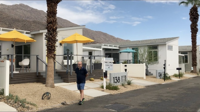 Palm Springs revamps trailer park with mid-century tiny homes