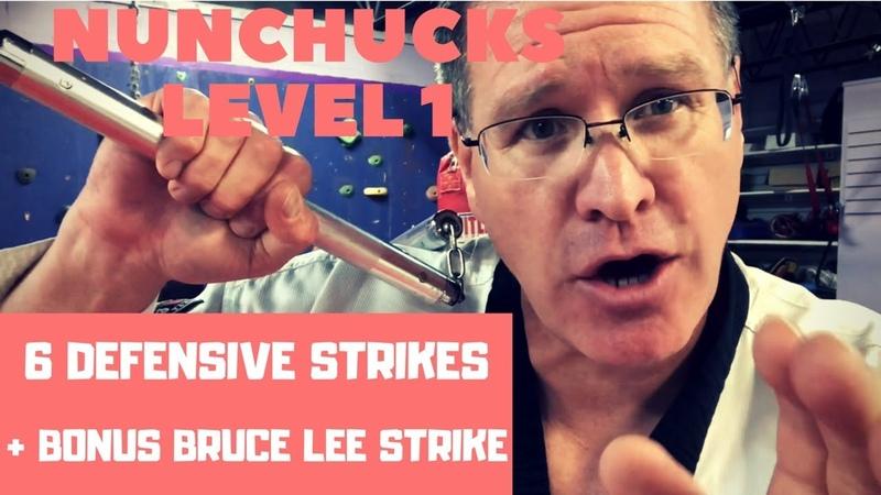 6 Nunchucks strikes plus bonus Bruce lee strike