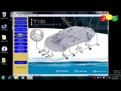 How to install MINI VCI Toyota Techstream V12.20.024 on Win7 OBDII365