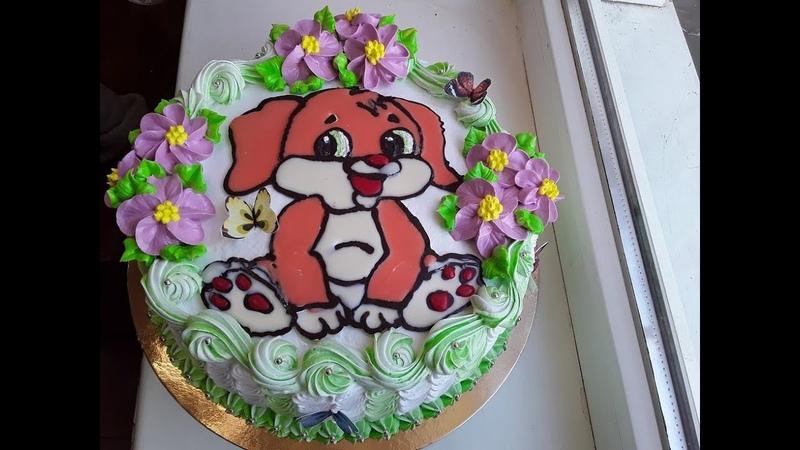 Торт раскраска для мальчика