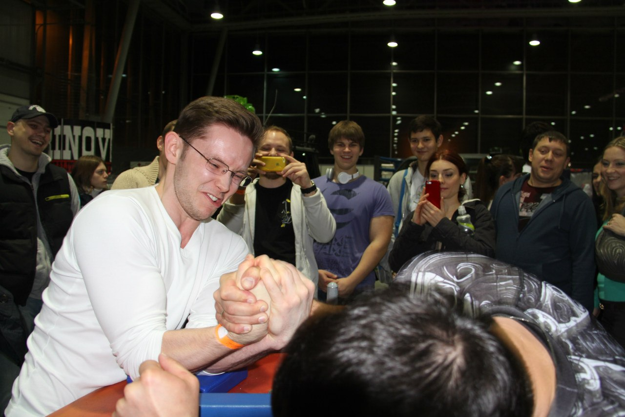 Khadzimurat Zoloev - FitMax Armwrestling Seminar at SN PRO EXPO FORUM 2014 │ Photo Source: Yulia Khozyainova