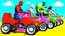 Мультики про Цветные Машинки и Квадроциклы Детское Видео и Веселые Песенки для Малышей