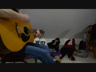 Кавер на ДДТ - Это всё. Квартет: Миша, Дима, Серега и Светлана.