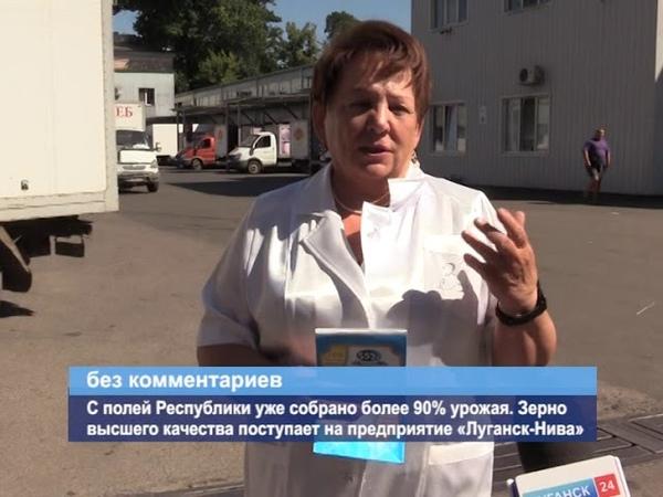 ГТРК ЛНР. С полей Республики уже собрано более 90% урожая