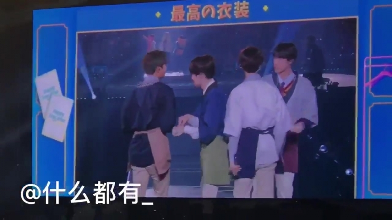 Maknae line dressed up as sushi and hyung line as sushi chefs. the way taehyung kept blowi