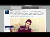 140212 JYJ 김준수 KIM JUNSU celebrating 4th anniversary as a musical actor