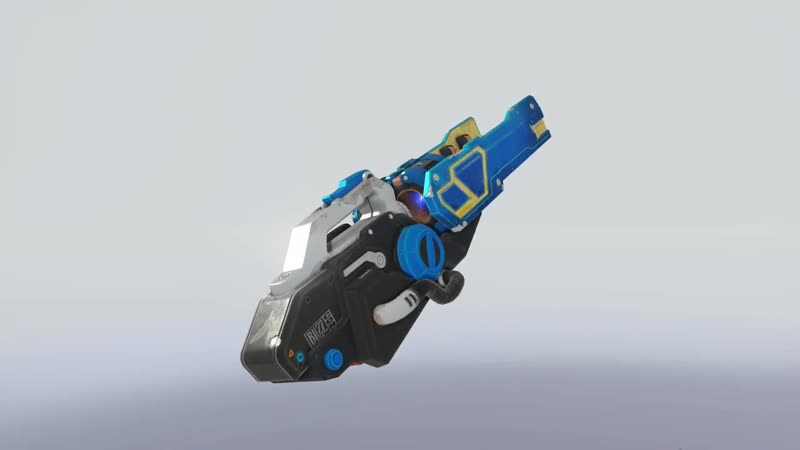 There is a secret banana on Overwatch Winstons weapon also Ana's Snow Owl Skin has a similar Easter Egg, in her gun there's a Ov