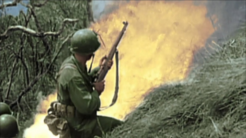 WW2 The Pacific War Part 2 Real Footage in Color