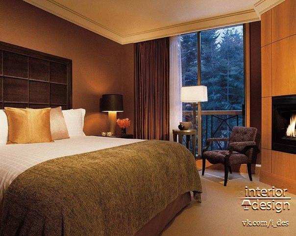 Дизайн спальни в загородном доме (1 фото) - картинка