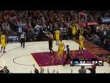 LeBron James knocks it down as the clock expires