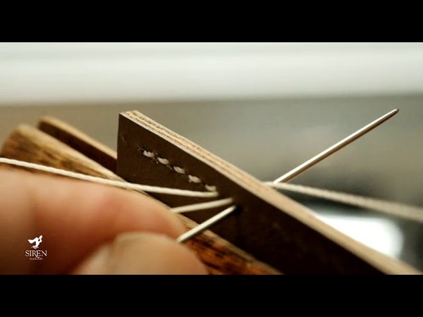 Leather handcraft How to Saddle Stitch