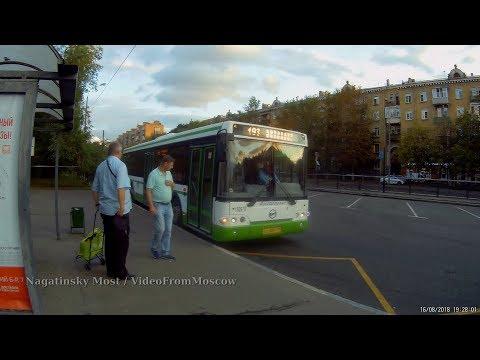 Автобус 193 Саратовская улица - метро Автозаводская 16 августа 2018