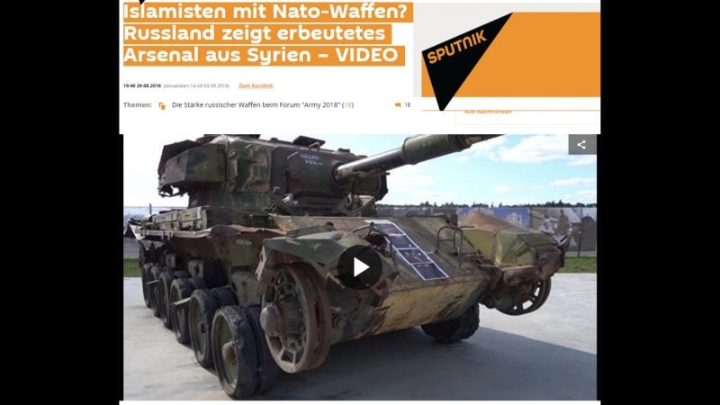 Islamisten mit Nato Waffen Russland zeigt erbeutetes Arsenal aus Syrien VIDEO