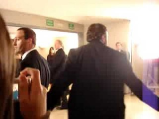 Meryl Streep leaves after the ceremony