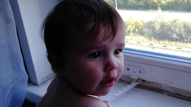 Заразительный смех малышки 9 месяцев